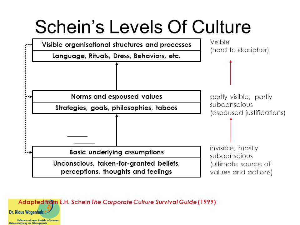 Schein's Levels Of Culture