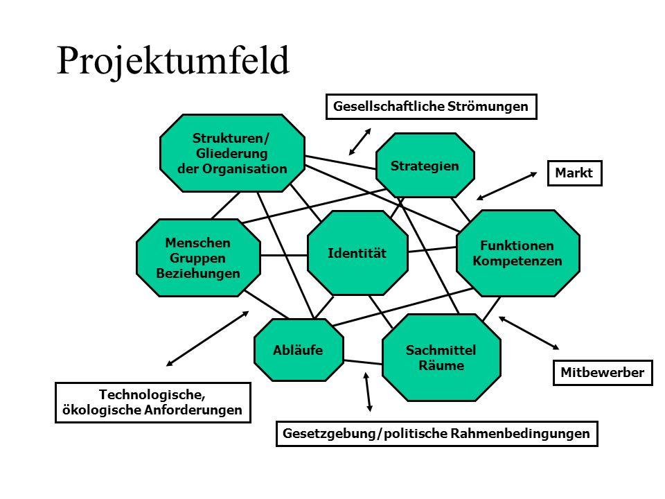 Projektumfeld Gesellschaftliche Strömungen Strukturen/ Gliederung