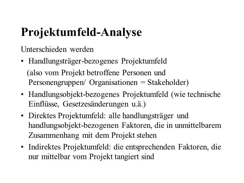 Projektumfeld-Analyse