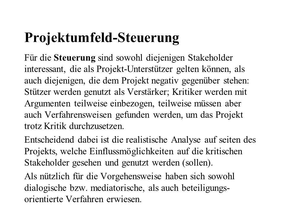 Projektumfeld-Steuerung