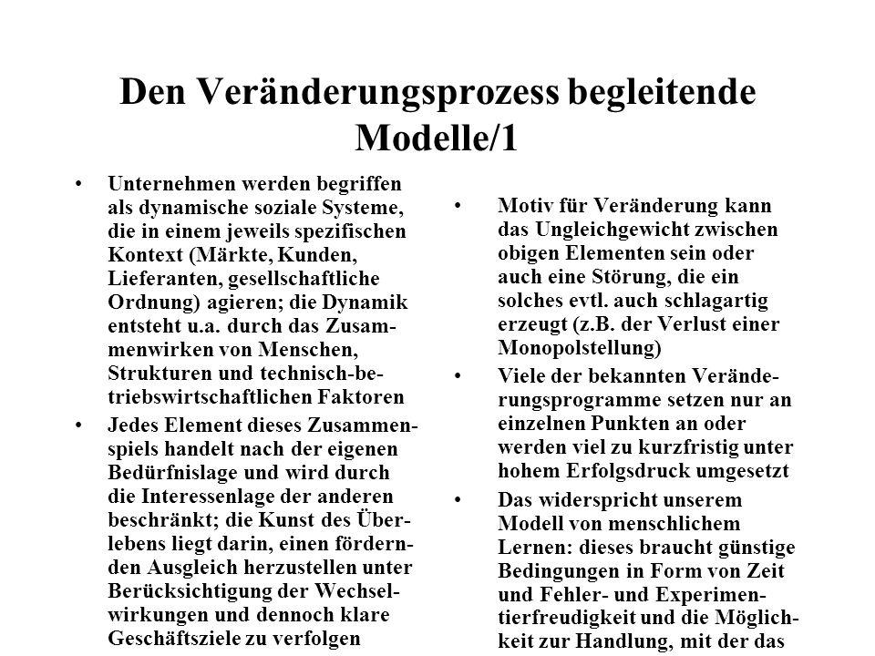 Den Veränderungsprozess begleitende Modelle/1