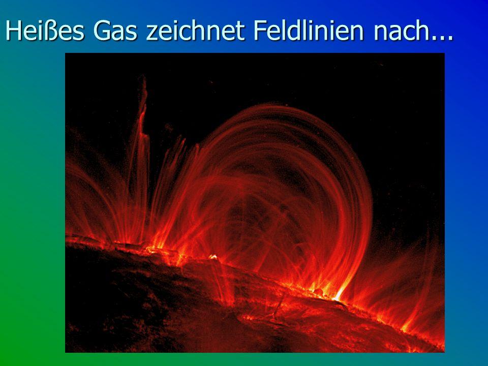 Heißes Gas zeichnet Feldlinien nach...