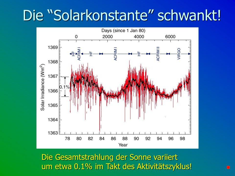 Die Solarkonstante schwankt!
