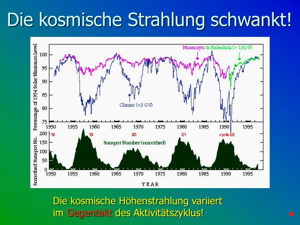Die kosmische Strahlung schwankt!