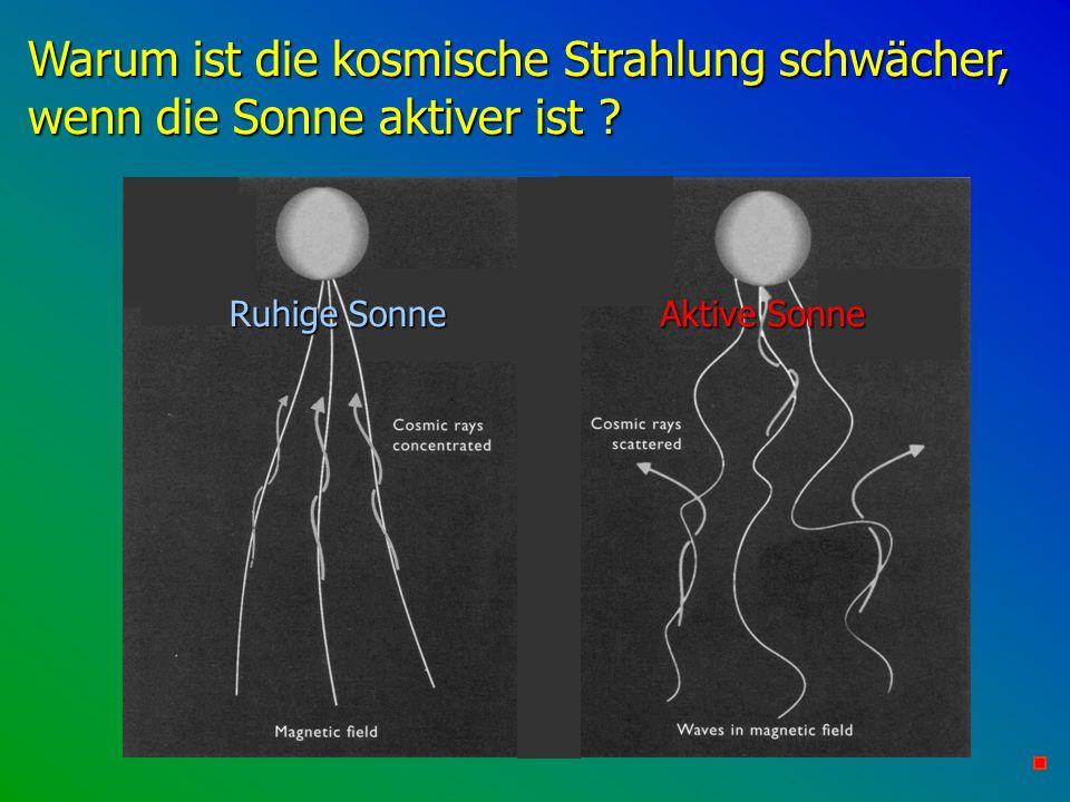 Warum ist die kosmische Strahlung schwächer, wenn die Sonne aktiver ist