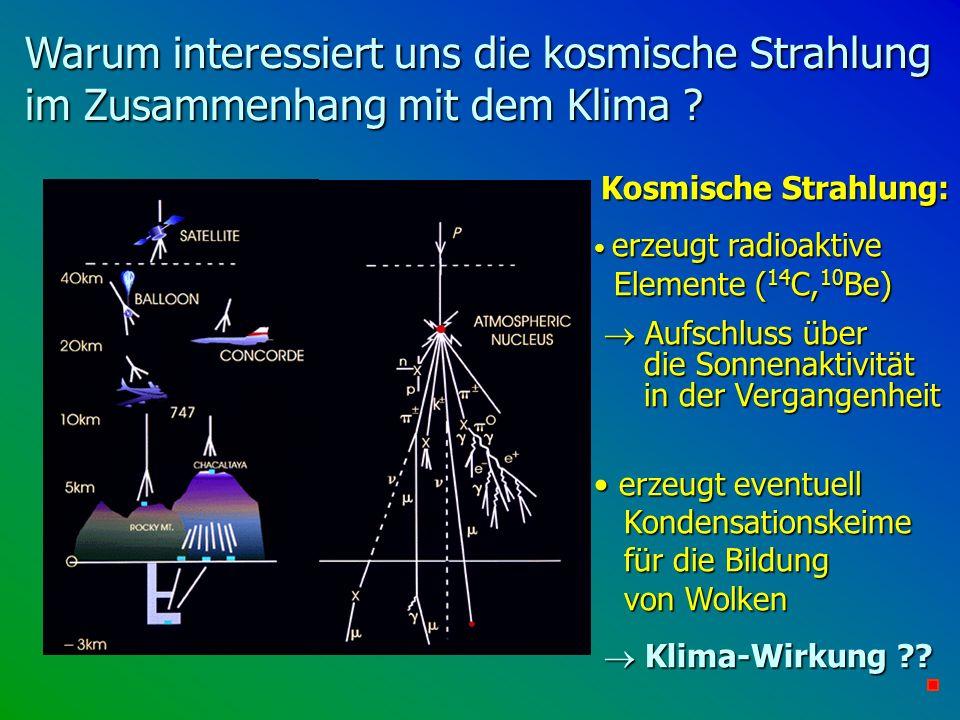 Warum interessiert uns die kosmische Strahlung im Zusammenhang mit dem Klima