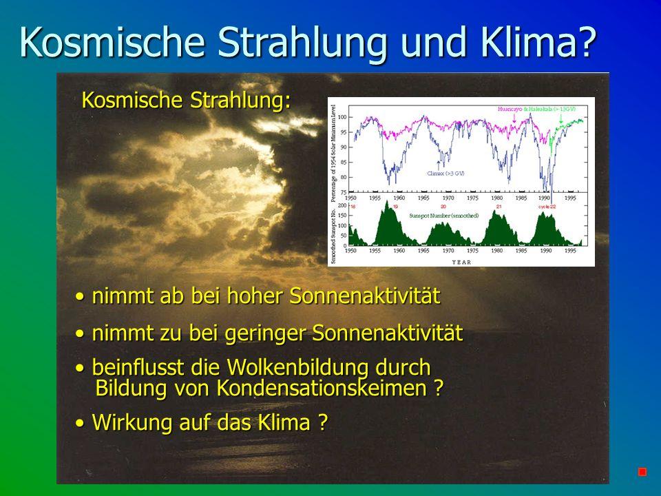Kosmische Strahlung und Klima