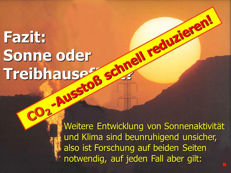 CO2 -Ausstoß schnell reduzieren!