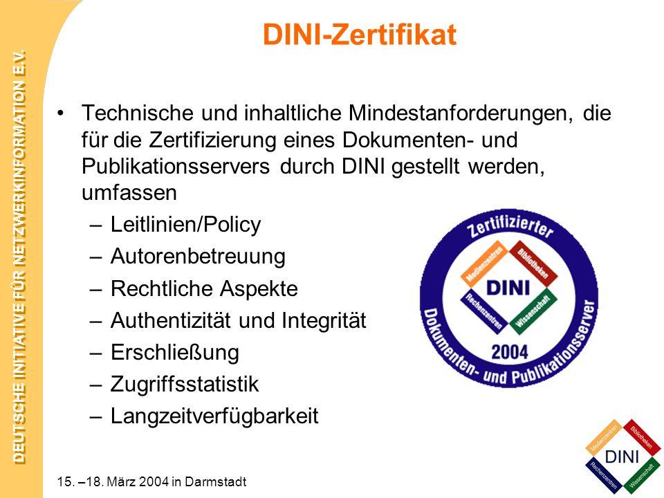 DINI-Zertifikat