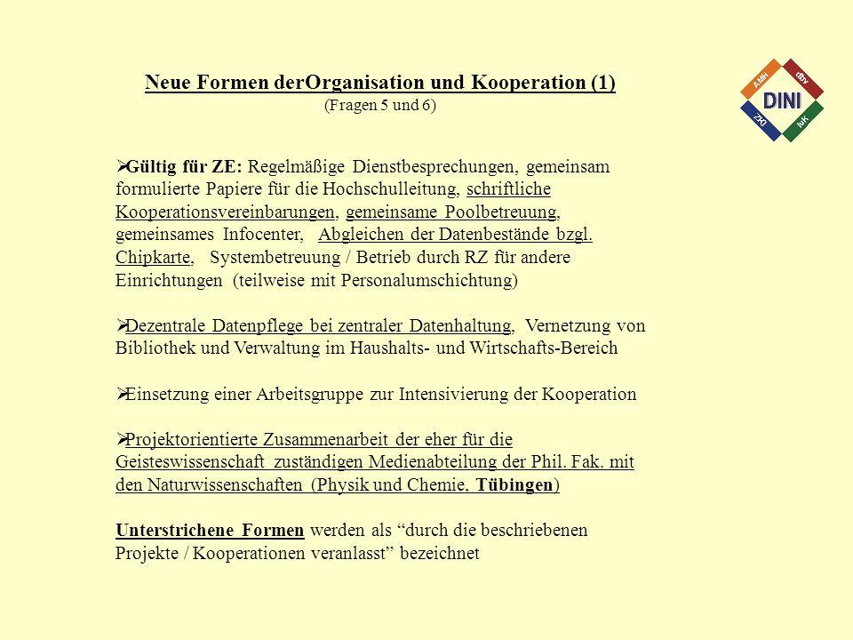 Neue Formen derOrganisation und Kooperation (1)