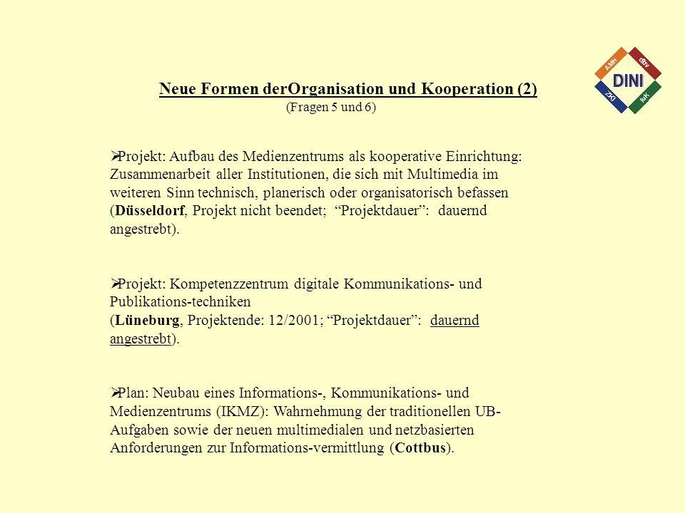 Neue Formen derOrganisation und Kooperation (2)