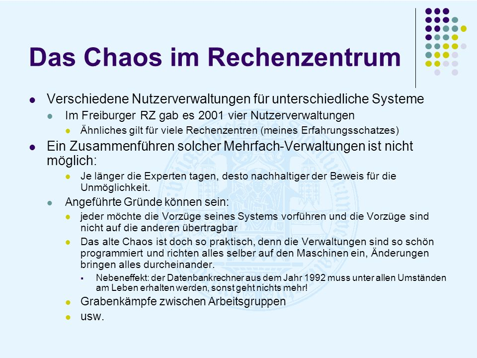 Das Chaos im Rechenzentrum