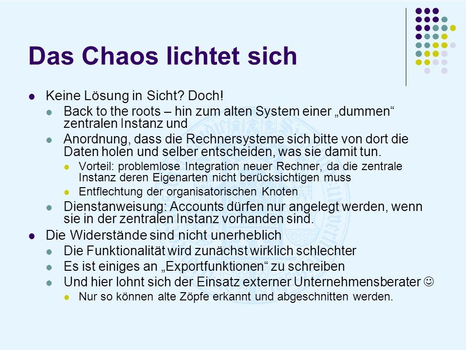 Das Chaos lichtet sich Keine Lösung in Sicht Doch!