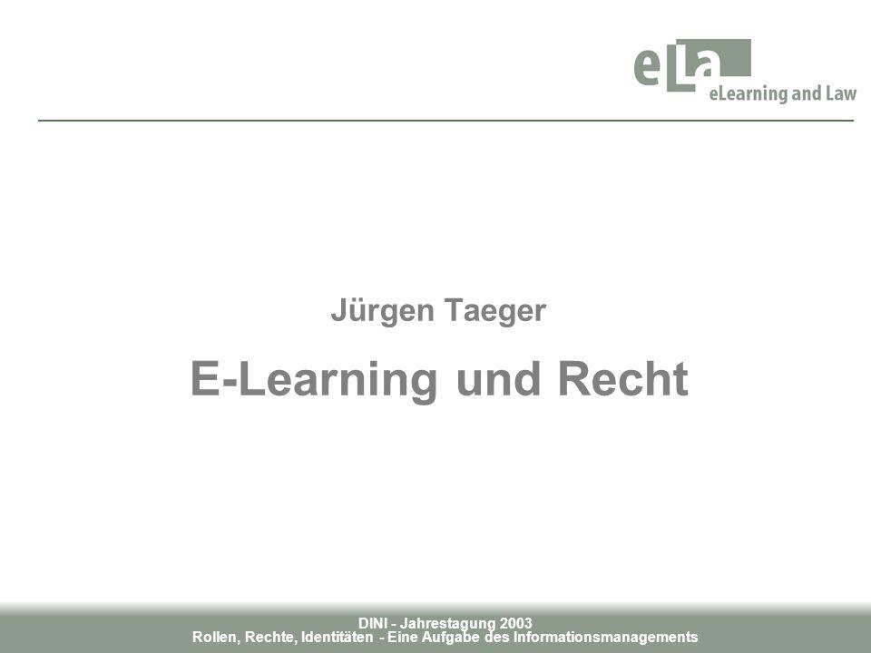Jürgen Taeger E-Learning und Recht