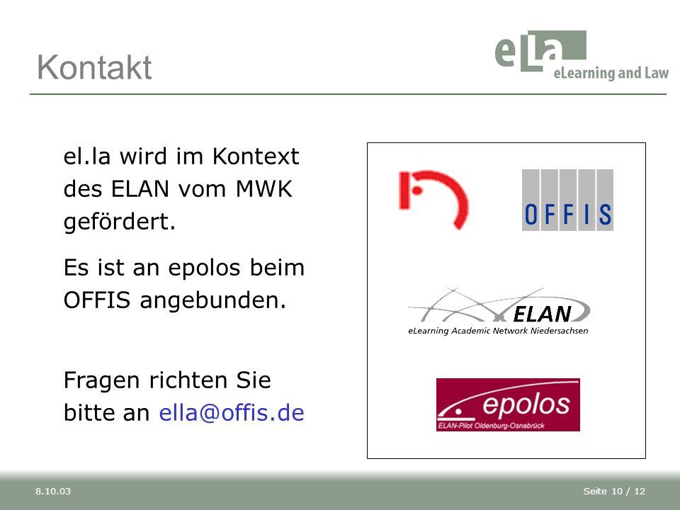 Kontakt el.la wird im Kontext des ELAN vom MWK gefördert.
