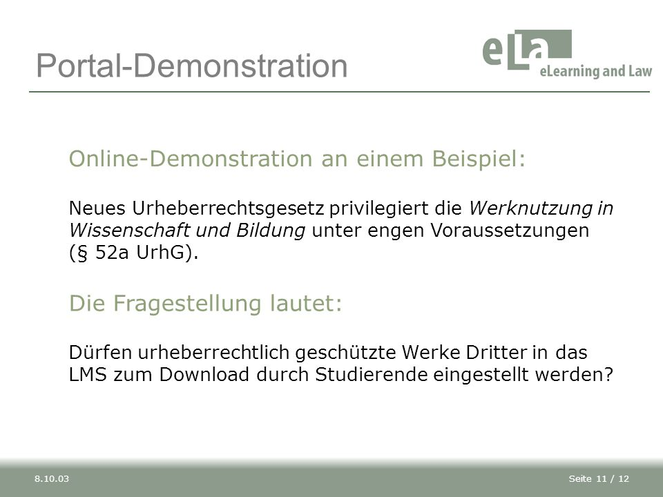 Portal-Demonstration