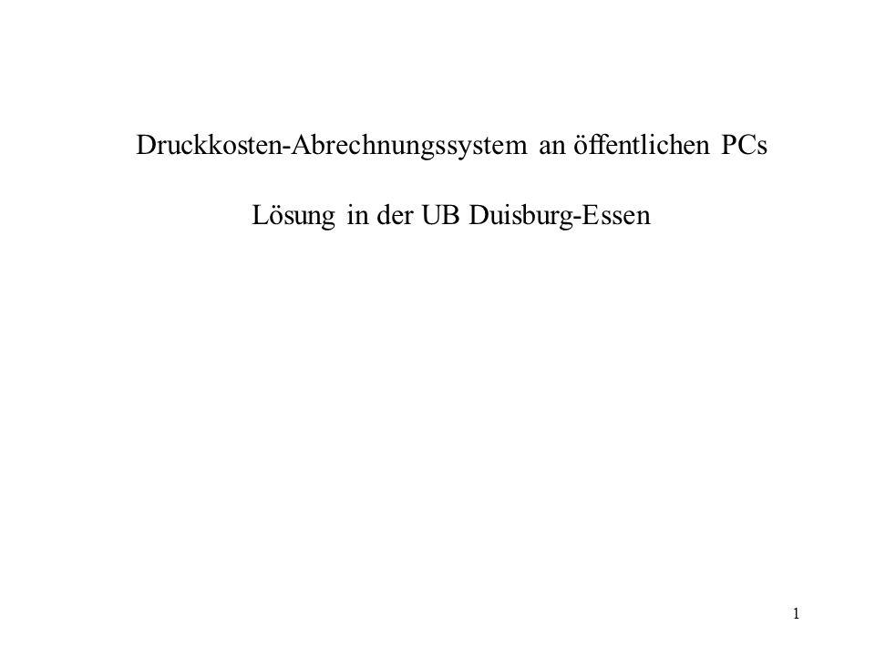 Druckkosten-Abrechnungssystem an öffentlichen PCs