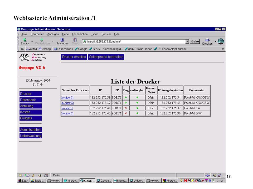 Webbasierte Administration /1