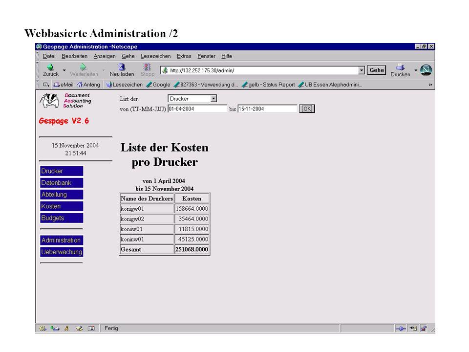Webbasierte Administration /2