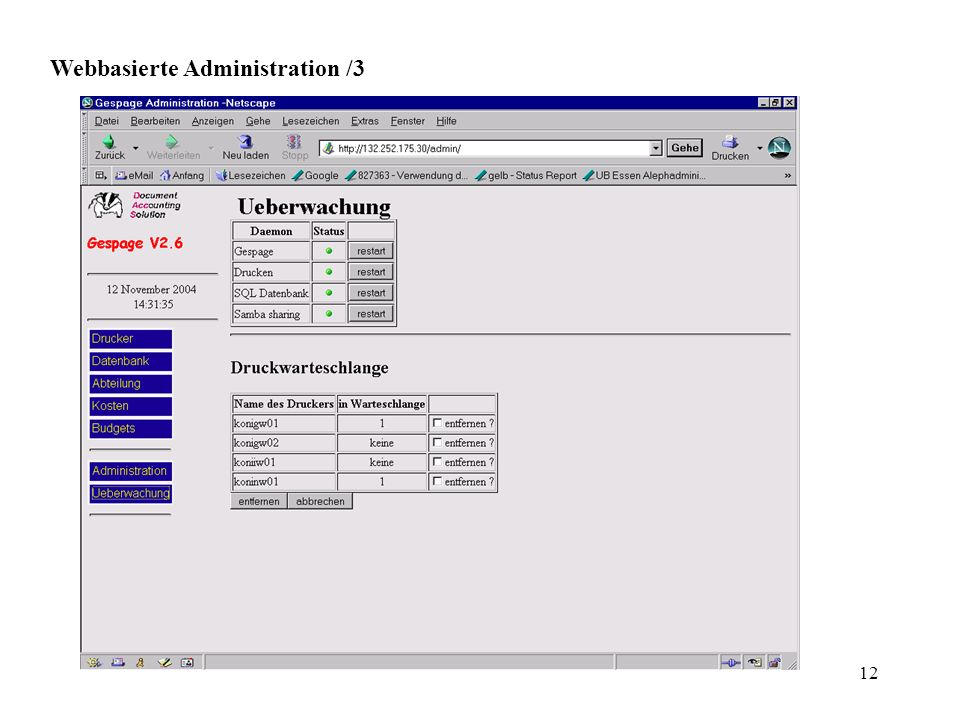 Webbasierte Administration /3