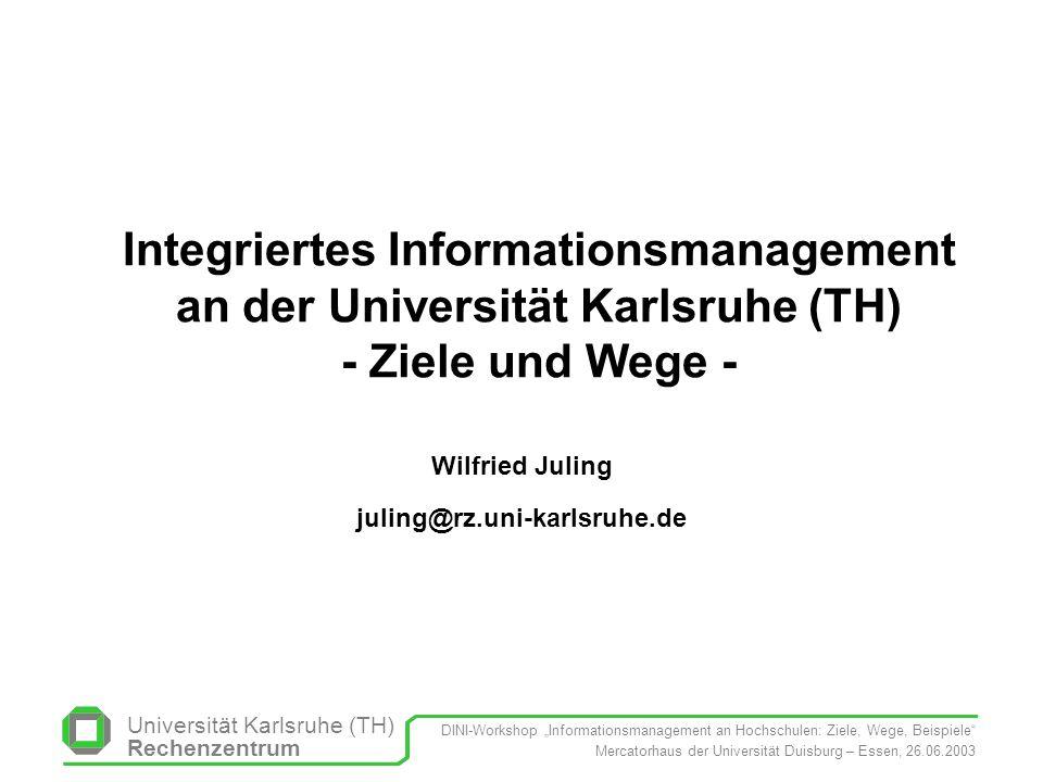 Wilfried Juling juling@rz.uni-karlsruhe.de