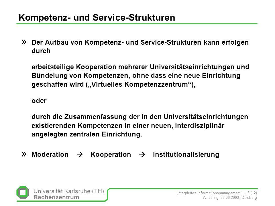 Kompetenz- und Service-Strukturen