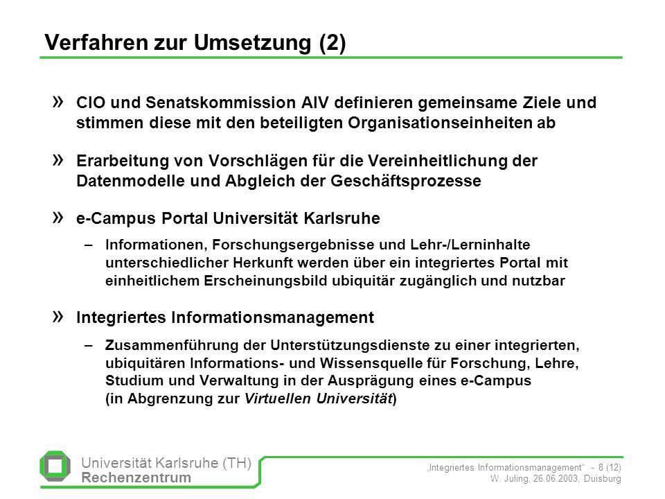 Verfahren zur Umsetzung (2)