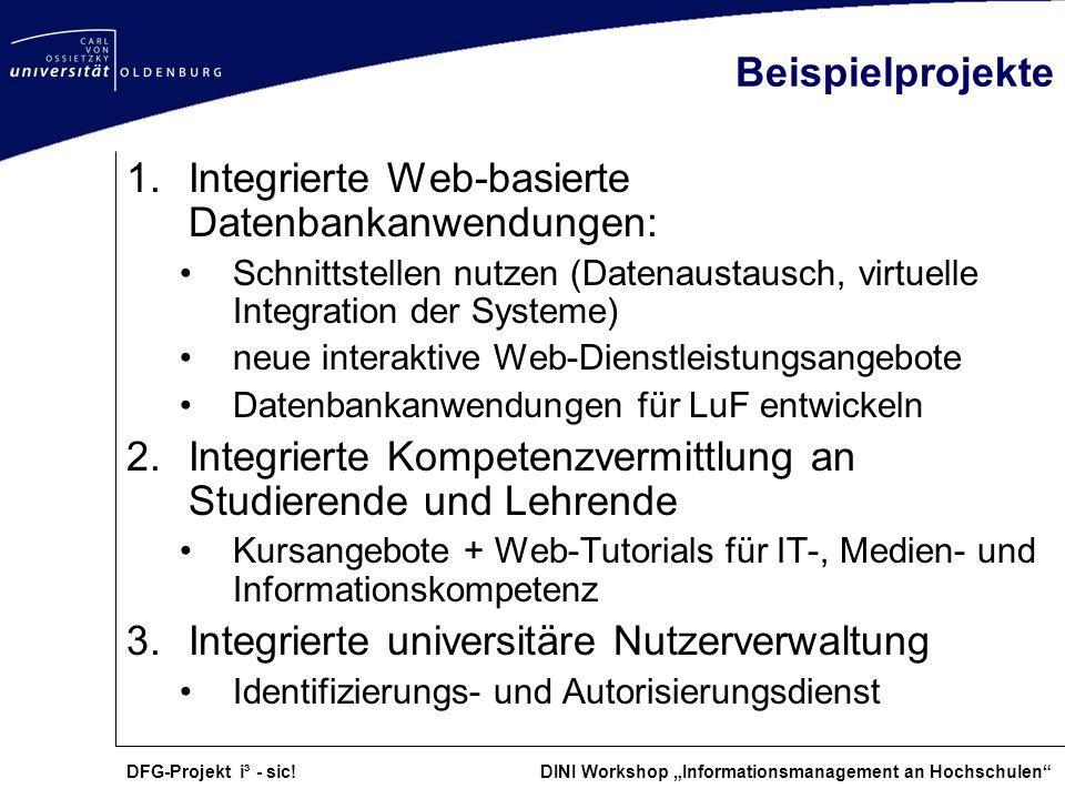 Integrierte Web-basierte Datenbankanwendungen: