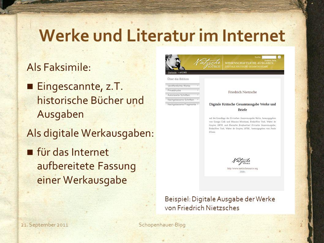 Werke und Literatur im Internet