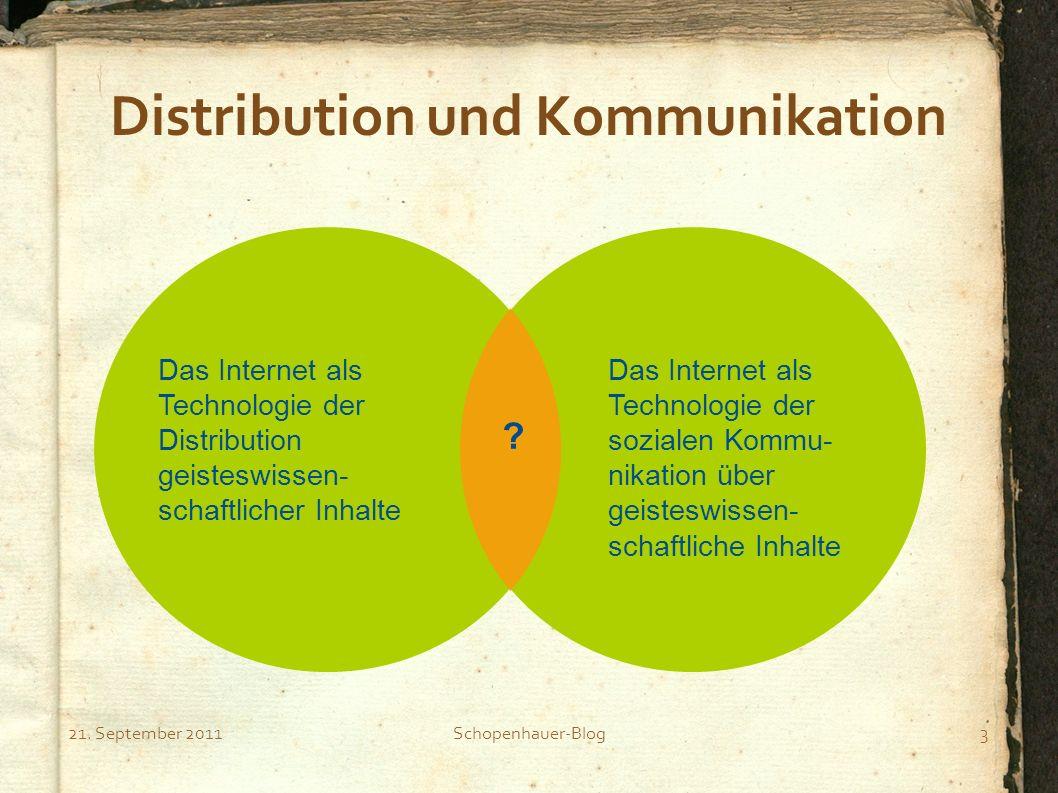 Distribution und Kommunikation