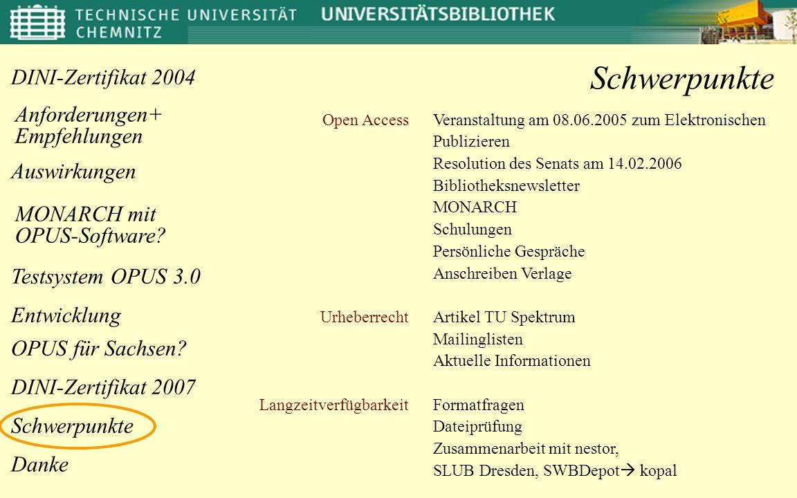 Schwerpunkte Open Access Urheberrecht Langzeitverfügbarkeit