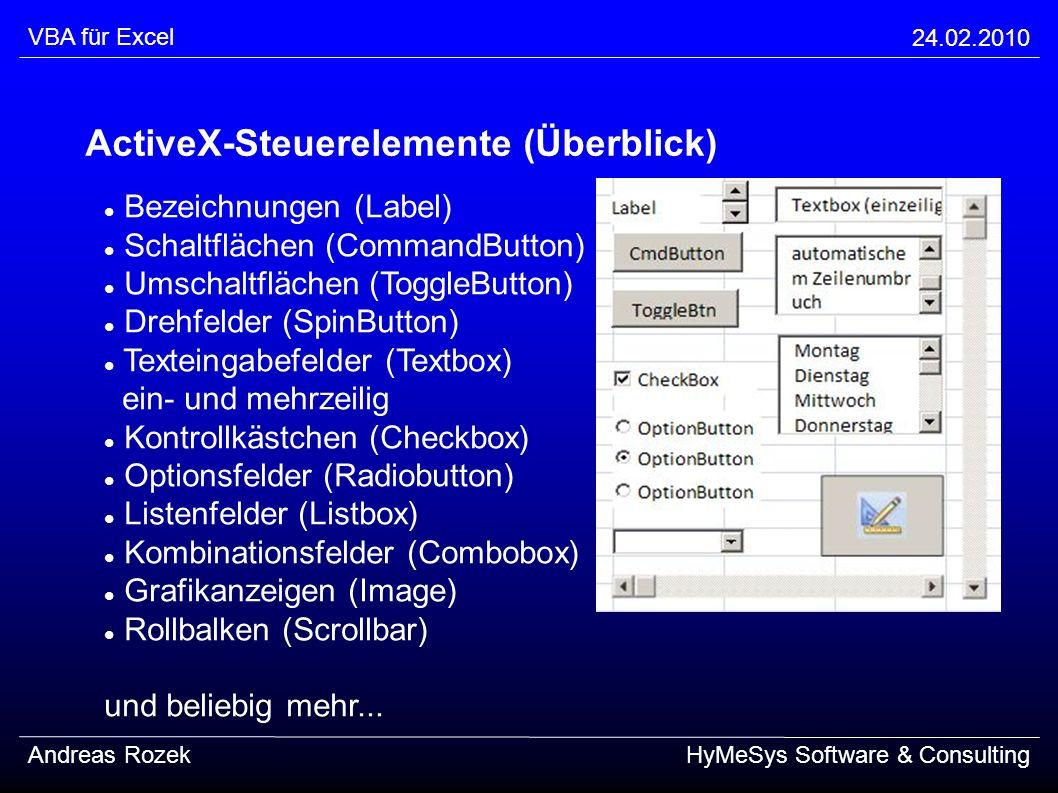 ActiveX-Steuerelemente (Überblick)