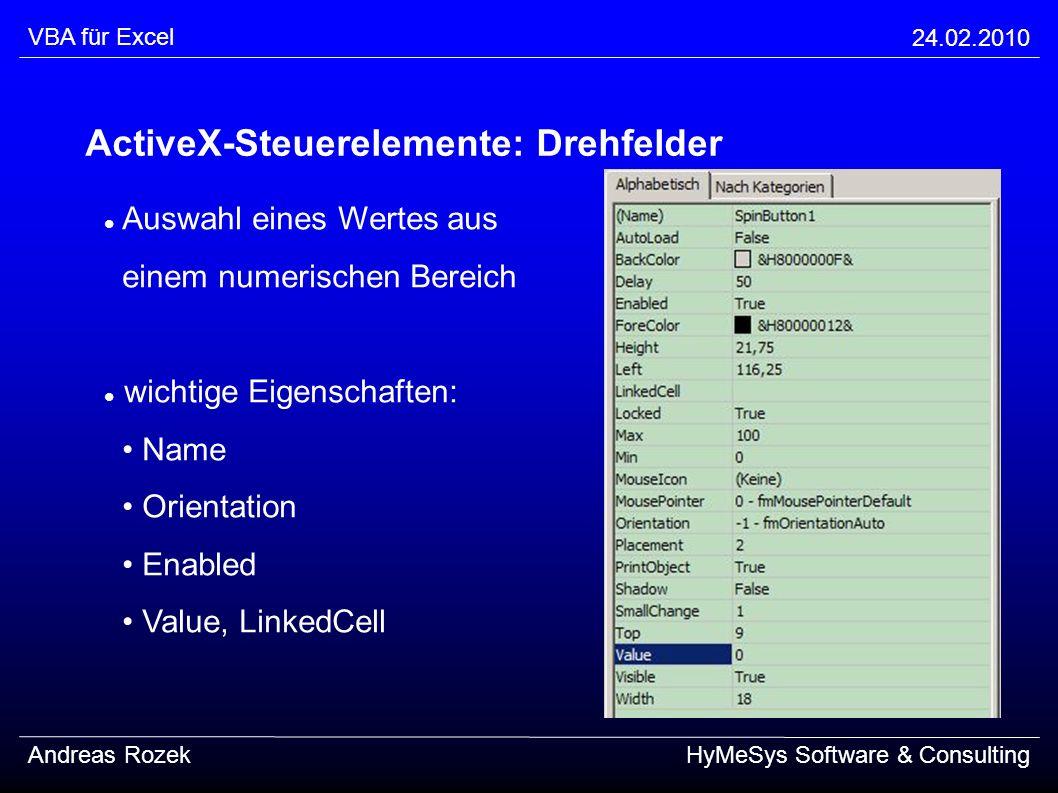 ActiveX-Steuerelemente: Drehfelder