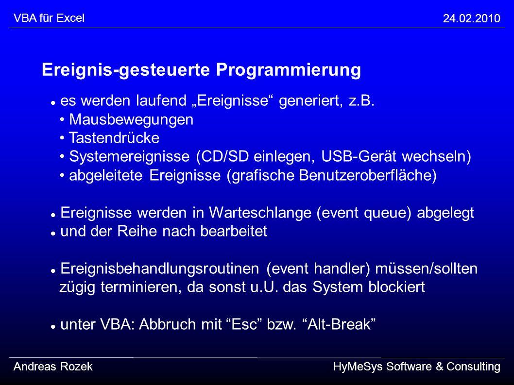Ereignis-gesteuerte Programmierung