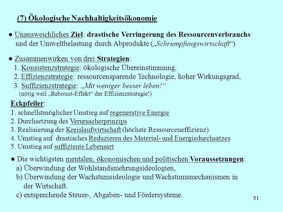 (7) Ökologische Nachhaltigkeitsökonomie
