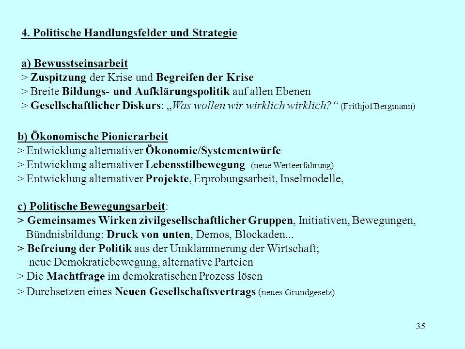 4. Politische Handlungsfelder und Strategie