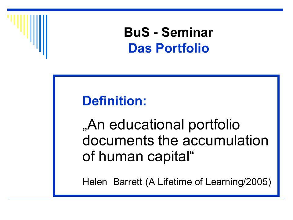 BuS - Seminar Das Portfolio