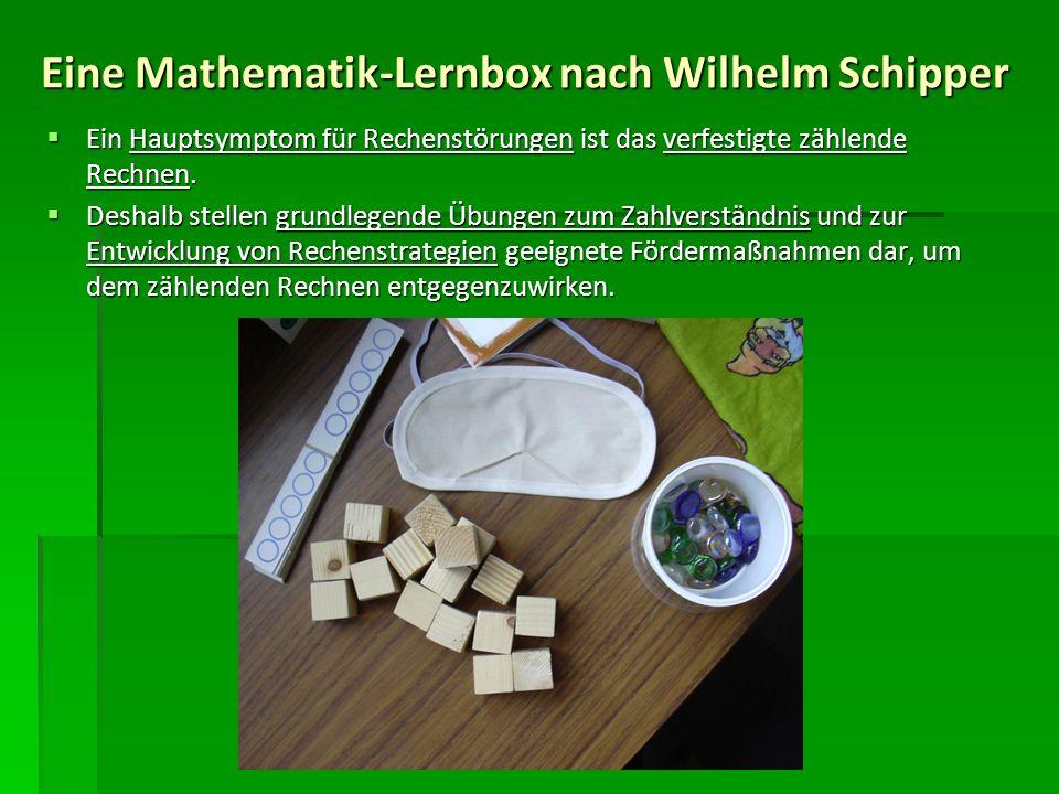 Eine Mathematik-Lernbox nach Wilhelm Schipper