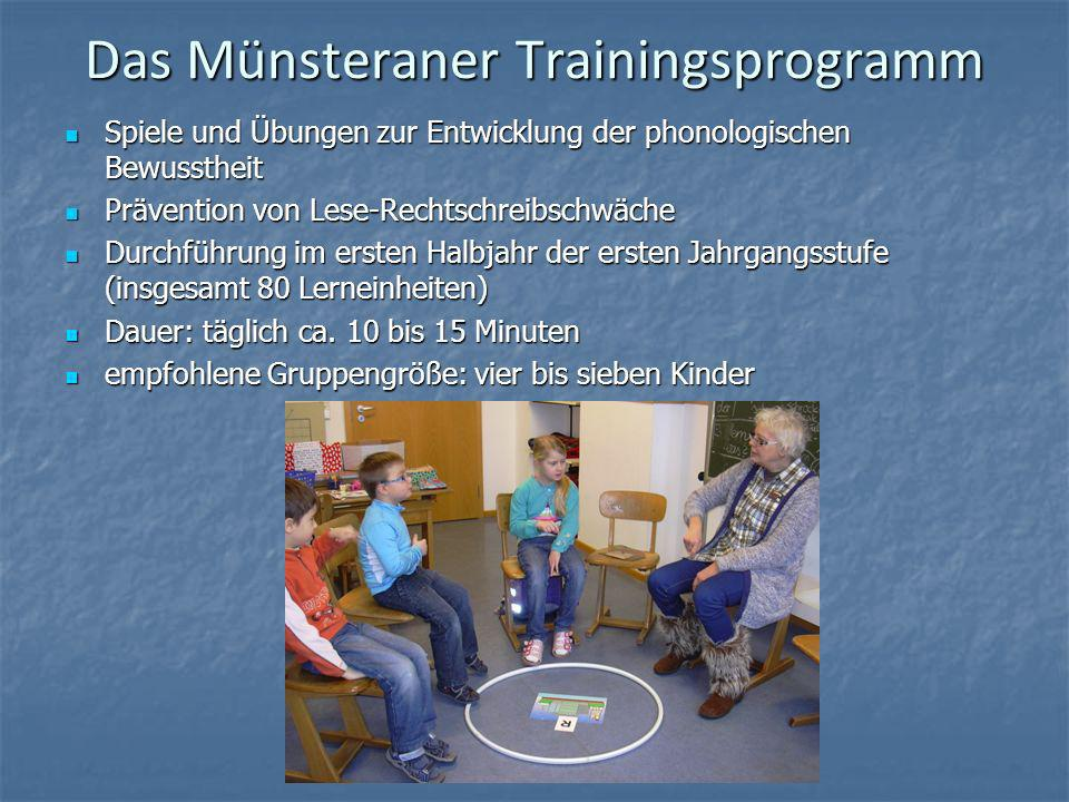 Das Münsteraner Trainingsprogramm