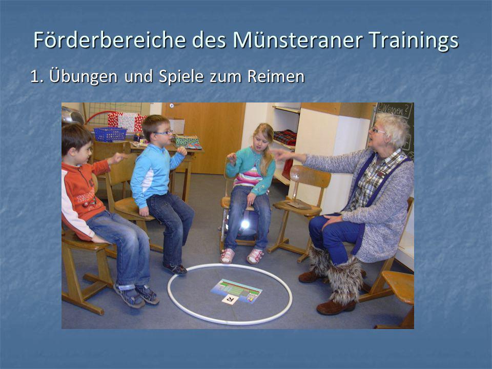 Förderbereiche des Münsteraner Trainings