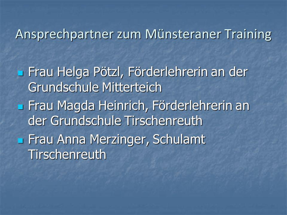 Ansprechpartner zum Münsteraner Training