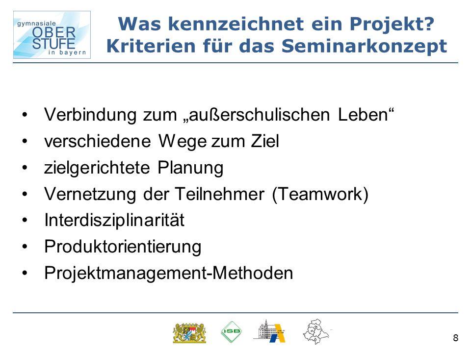 Was kennzeichnet ein Projekt Kriterien für das Seminarkonzept
