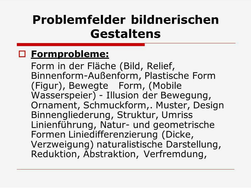 Problemfelder bildnerischen Gestaltens