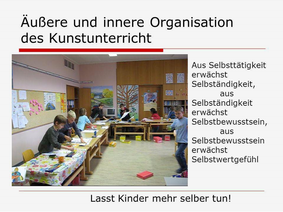 Äußere und innere Organisation des Kunstunterricht