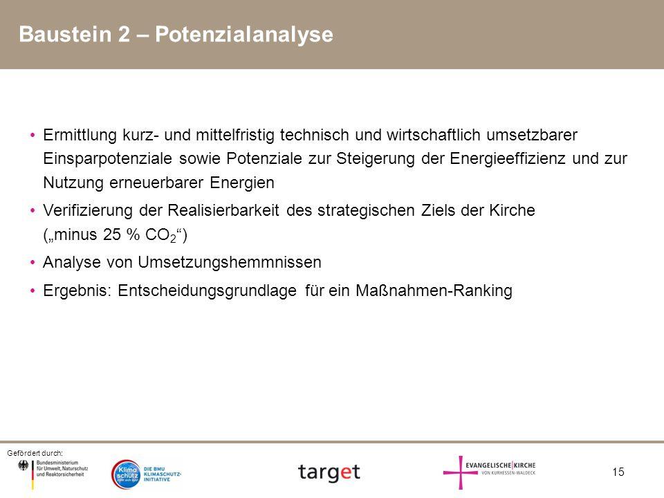 Baustein 2 – Potenzialanalyse