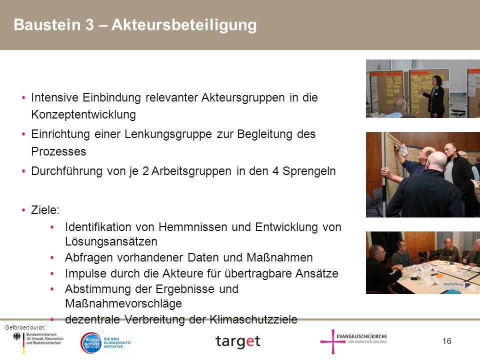 Baustein 3 – Akteursbeteiligung