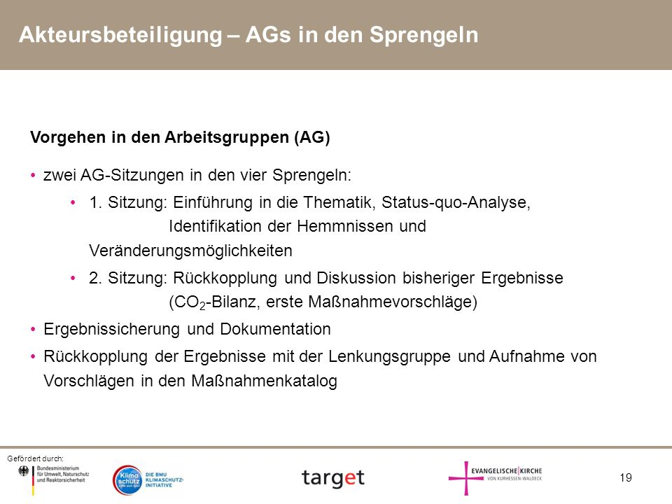 Akteursbeteiligung – AGs in den Sprengeln