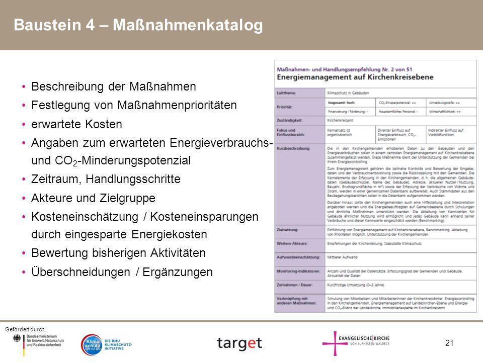 Baustein 4 – Maßnahmenkatalog