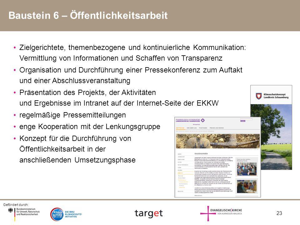 Baustein 6 – Öffentlichkeitsarbeit