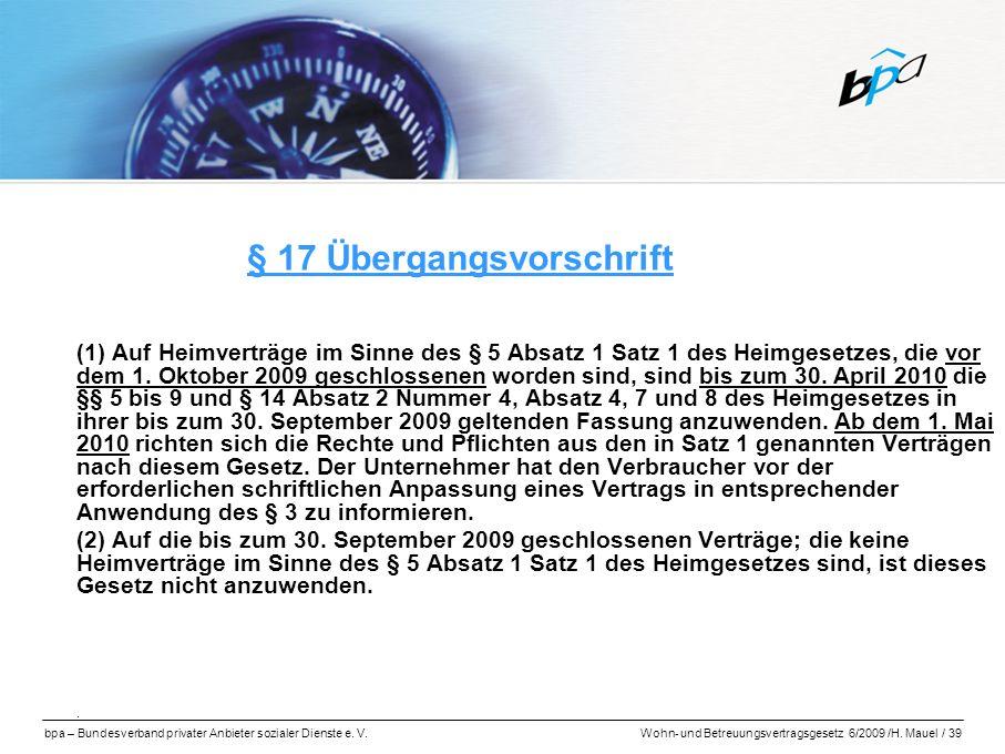 § 17 Übergangsvorschrift